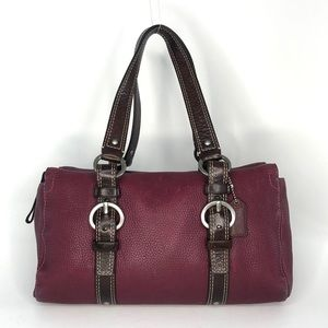 Coach Garnet Leather Satchel Shoulder Bag